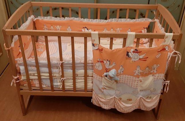 Постельное унисекс в детскую кроватку + подарок