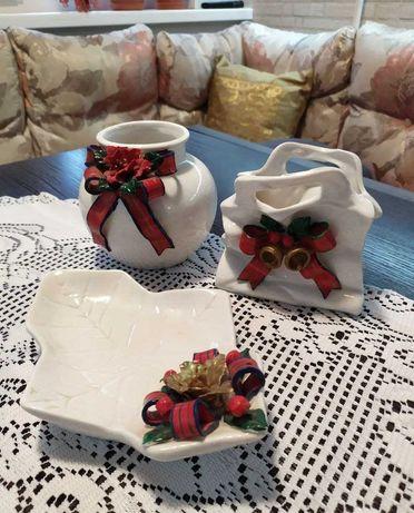 Набор посуды подарочный из 3-х предметов бу из Польши 2000г раритет