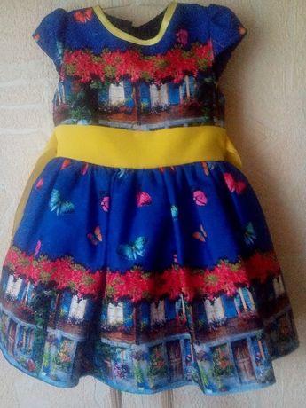 Красивое платье на 1-2г