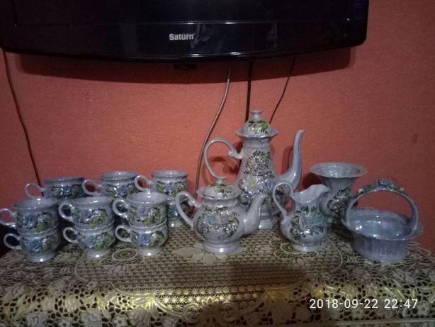 Сервиз чайный, кофейный.