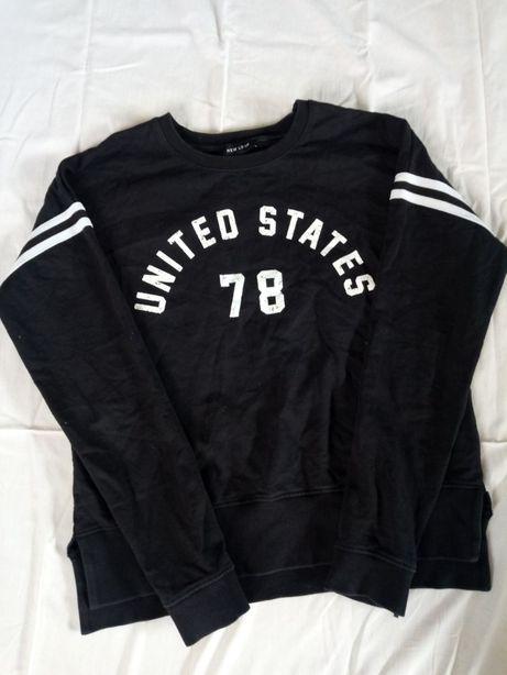 Лонгслив черный от New Look с надписью United States 78