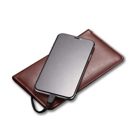 Портмоне, кошелек со встроенным Powerbank с беспроводной зарядки.