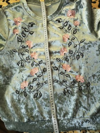 Свитшот Свитер бархатный H&M Качество превосходное!