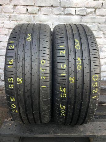Літні шини 205/55 R16 Continental EcoContact6, 7мм, 2018рік, Німеччина