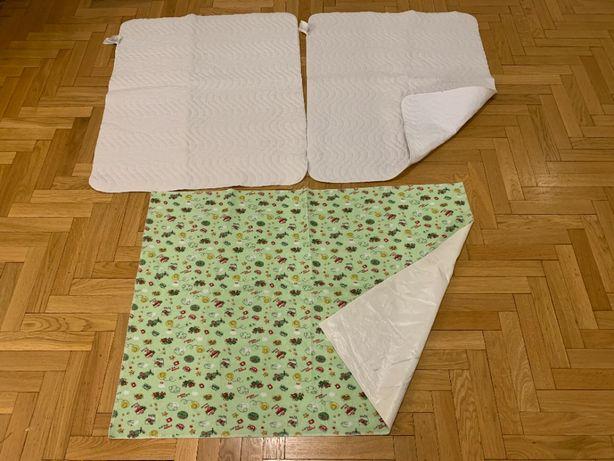 Maty / ochraniacze wodoszczelne na łóżko / łóżeczko 3 szt.