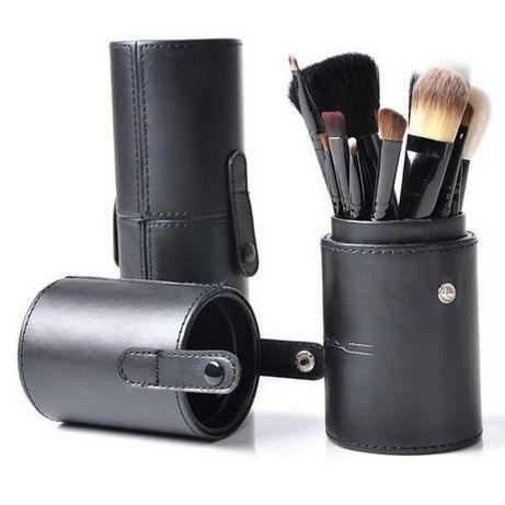Кисти для макияжа 12 шт МАС +ТУБУС В ПОДАРОК Натуральный Ворс 6 цветов