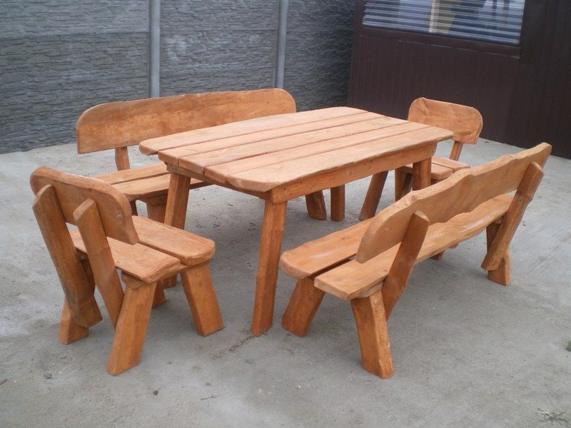 Komplet ogrodowy TADEK! Stół i dwie ławki! Meble ogrodowe. Ośno Drugie - image 1