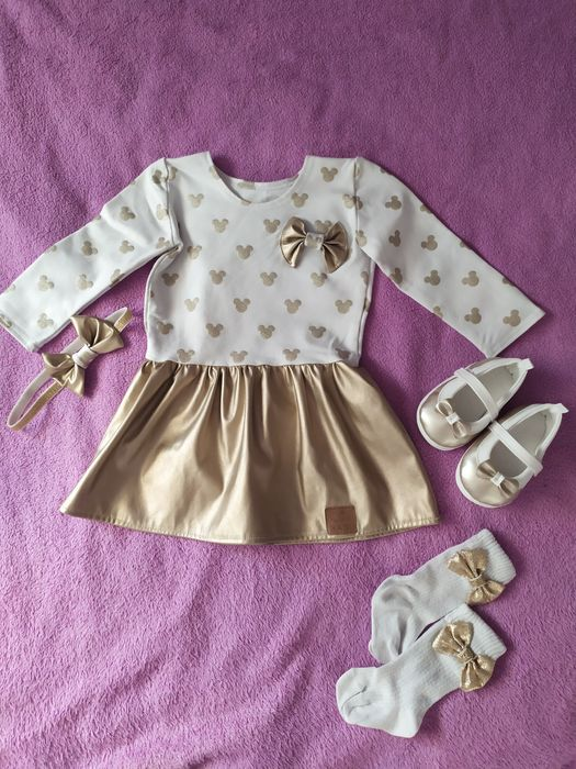 Sukienka złota BABI rozm. 80-86 Wróblew - image 1