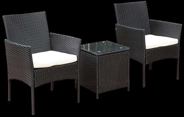 Conjunto de jardim – 2 cadeiras c/ mesa rattan