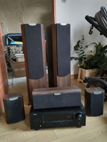 Amplituner + głośniki - kino domowe