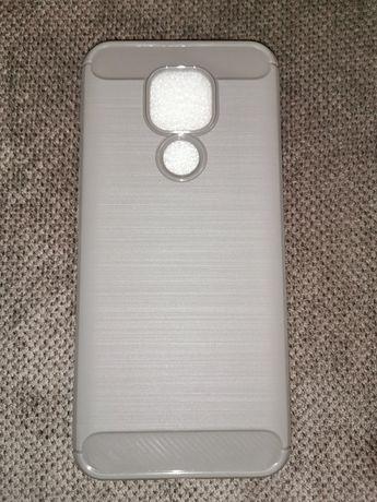 Etui silikonowe do telefonu Motorola Moto E7 Plus lub G9 Play szare