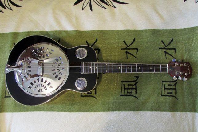 Акустическая гитара резонатор Cherrystone Black