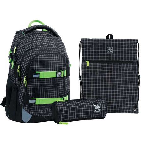 Школьный набор рюкзак  пенал  сумка Wonder Kite Checkered WK21-727M-2