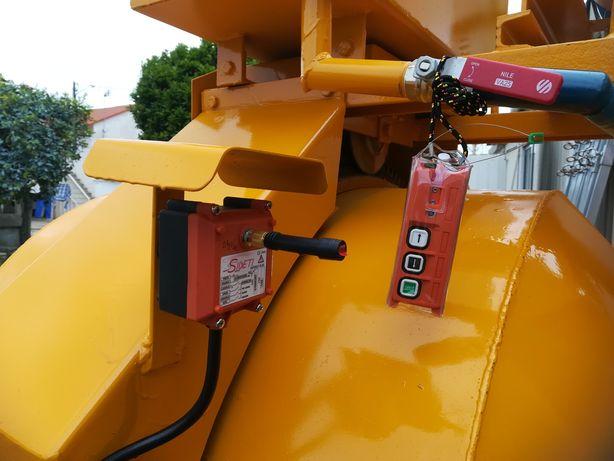 Comandos via rádio para centrais betão