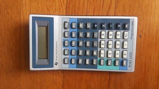 Maquina de Calcular Programável Texas Instruments TI 57 LCD Vintage