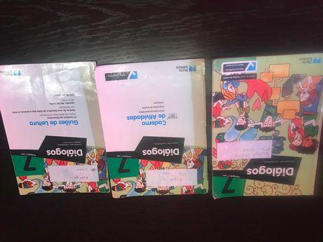 Vendo livro Português Diálogos 7º ano e 8º ano com marcas de uso