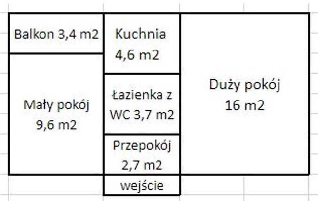 Mieszkanie 40 m², Tychy
