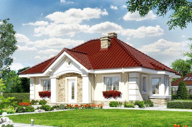 """Sprzedam projekt domu """"Dom w lotosach 2 ver. 2"""" wersja Termo"""