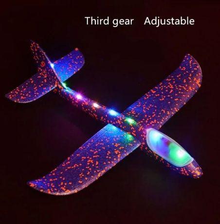 Детский самолет-планер С LED подсветкой