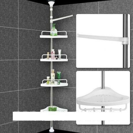 Многоместная угловая полка для ванной комнаты Aidesen ADS-188 металл