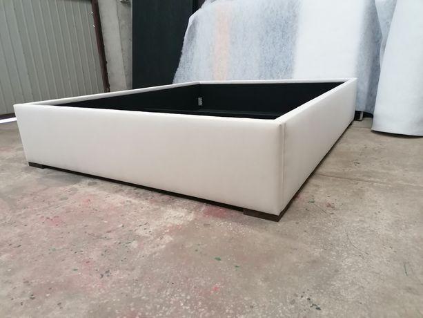 Box tapicerowany łóżko bez zagłowia 160x200 beż szenil od ręki dostępn