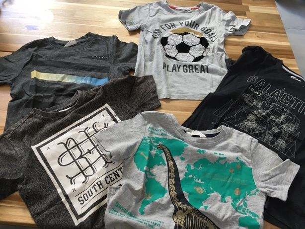 Komplet zestaw T-shirt r.122/128 HM Coccodrillo Reserved zmienne cekin