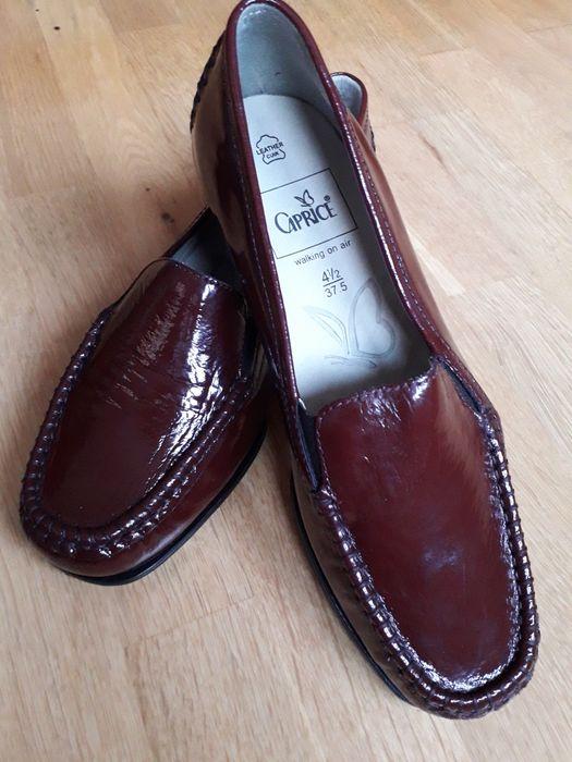 Buty skórzane nowe lakierowanie Caprice mokasyny markowe rozmiar 37.5 Bytów - image 1