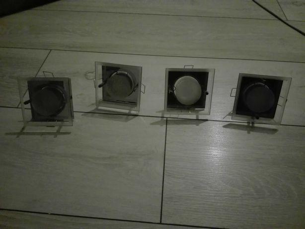4 lampy do zabudowy w płytę regips