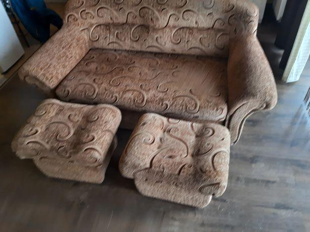 kanapa z pufami komplet okazja