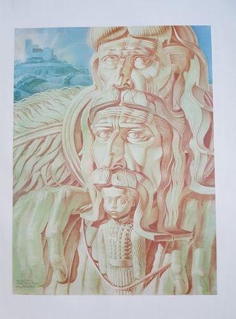 Plakat Stanisław Szukalski herbu Rogate Serce Dziedzic