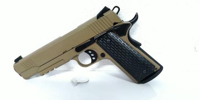 Pistola 1911 TAN, Full Metal, Blowback, Green gas - Airsoft