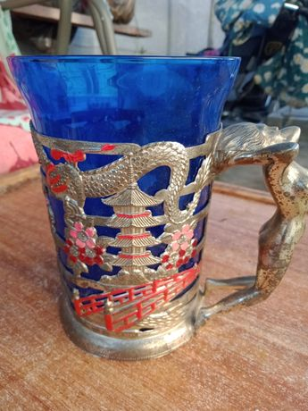 Подстаканник со стаканом