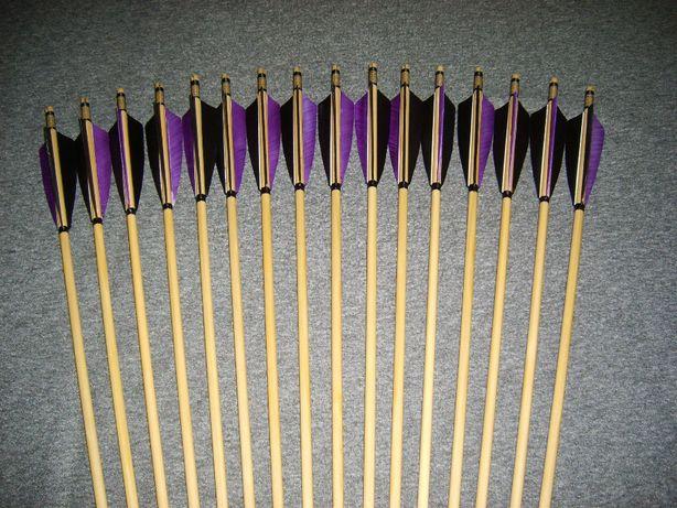 46-50 świerk nr 513 Komplet strzał do łuku strzały strzała drewniana