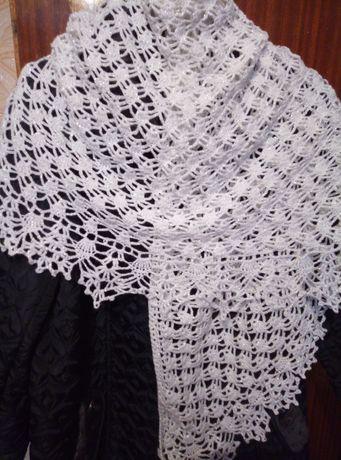 Белая шаль 170*90