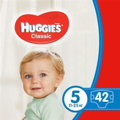 Підгузки дитячі Huggies Classic розмір 5, 11-25 кг, 42 штуки
