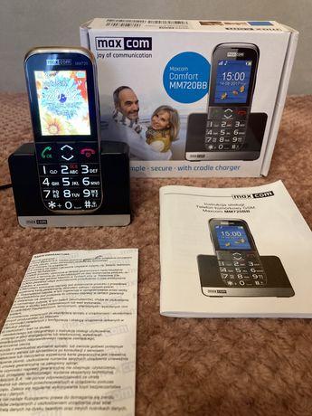 Telefon MAXCOM Comfort MM720BB dla osób starszych bądź niedowidzących