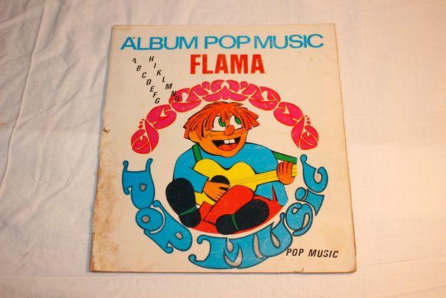 Caderneta / Album Pop Music Flama - 1971 - Completa - Rara