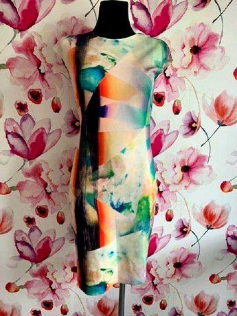 zara sukienka midi ołówkowa multi hit blog roz.36