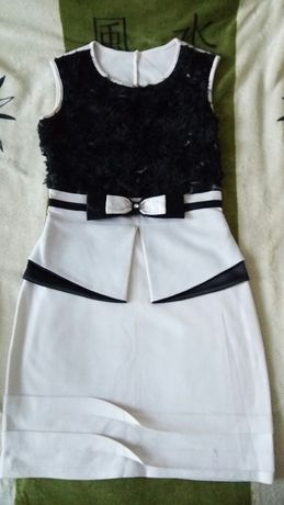 Теплое платье с балеро