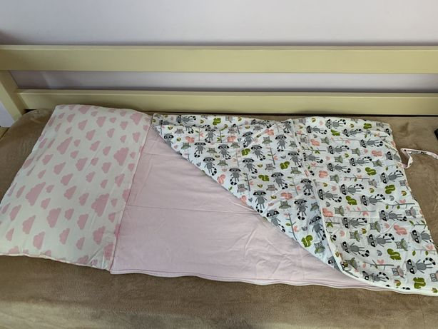 Спальник в дитяче ліжечко, спальний мішок подушка, одвяло, ковдра
