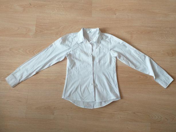 Biała koszula dziewczęca rozm. 152 cm