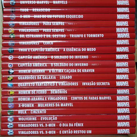 Colecção de BD em 20 volumes Universo Marvel