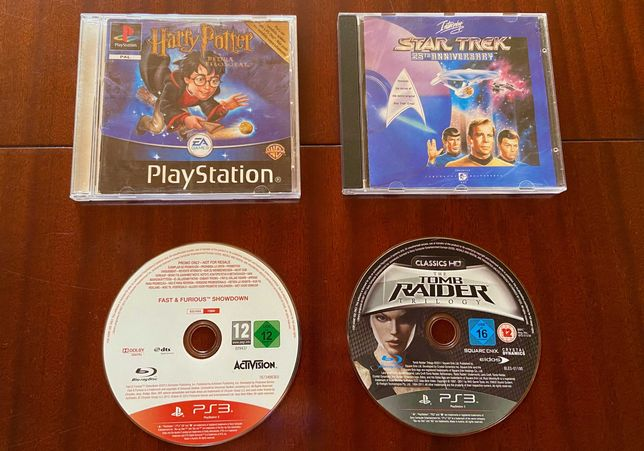 Jogos PC e Playstation - Fast & Furious, Harry Potter, Tomb Raider...
