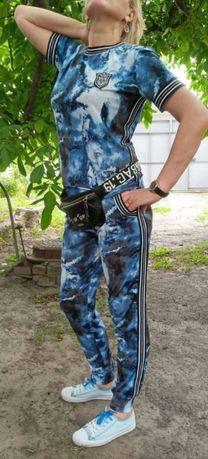 Женский легкий прогулочный костюм в спорт стиле,большие размеры44-64++