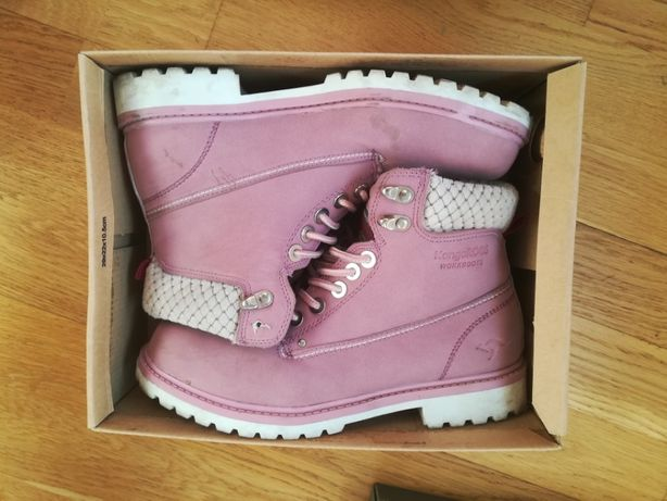 KangaRoos 38 24 cm workboots różowe wysokie trapery sneakers
