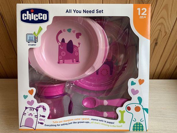 Набор детской посуды Chicco