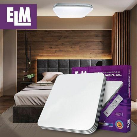 LED люстра, светикльник накладной квадратный 36и48W смарт панель