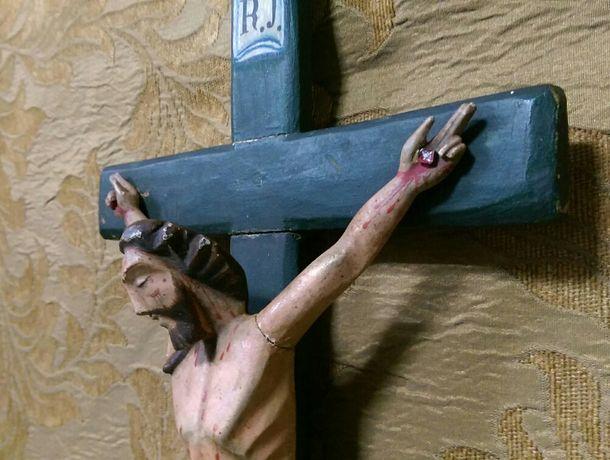 Crucifixo madeira séc.XlX