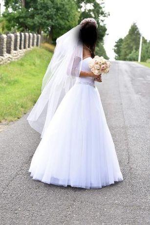Piękna suknia ślubna Savage 36/38