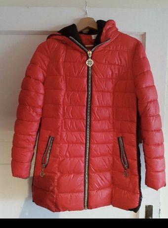 Ciepły damski puchowy płaszcz